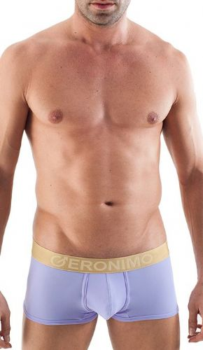 Geronimo Mens Underwear Low Rise Boxer Purple / Gold Waistband  Hipster 1356b1